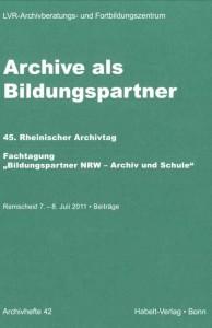 "Titelblatt ""Archive als Bildungspartner"""